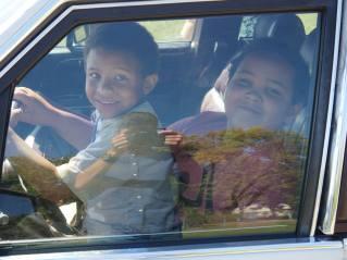 Elisha's kids, car