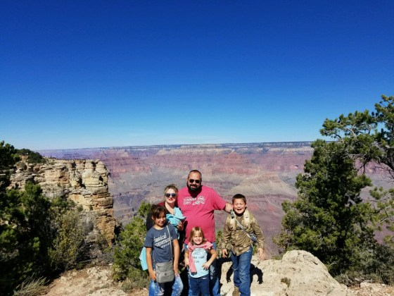 Lee and his family on a recent trip to the Grand Canyon