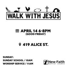 Walk with Jesus ad